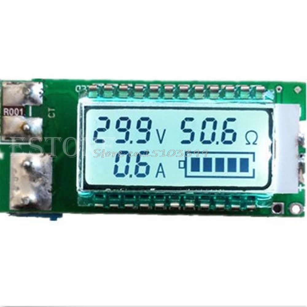18650 battery Lithium Li-ion tester Capacity Current Voltage Detector LCD meter Drop Ship