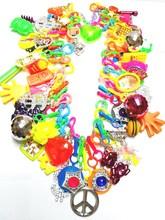 VINTAGE Plastik Charms Kolye 60 Charm 80 cm Çip Retro moda mücevherat Prenses Favor Kutusu Doğum Günü Partisi Favor Hediye Yenilik