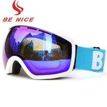 BE NICE professional snowboards high coverage ski goggles snow glasses snowboard goggles anti fog winter glasses SNOW2700