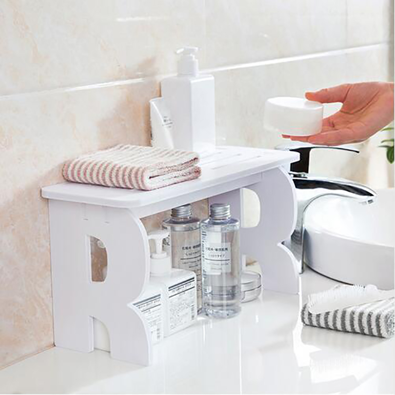 Wooden Desktop cosmetics storage rack Makeup Organizer debris shelves home storage bathroom accessories