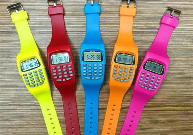 relogio masculino Hot LED Electronic Sports Watch children watches hot sale hour clock 2U