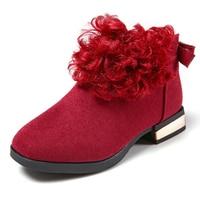 Princess Shoes For Girls Autumn Winter Children Martin Boots Girls Small Heels Short Fashion Zip Kids