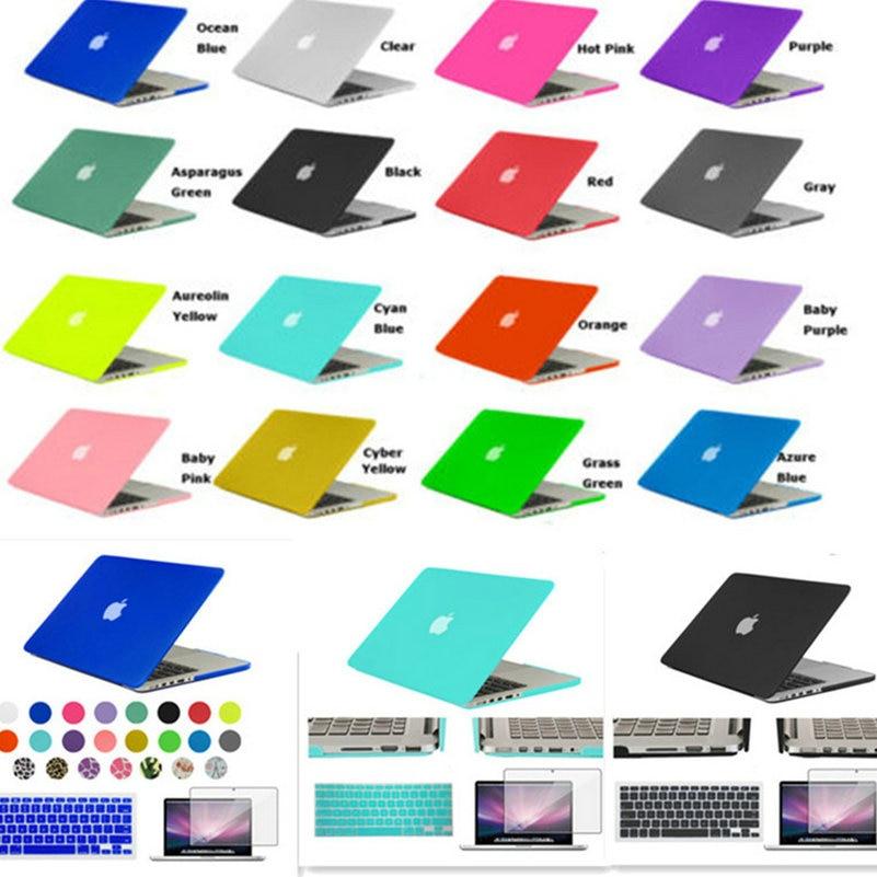 Κρυστάλλινη / Ματ σκληρή επιφάνεια Πλήρης προστατευτική κάλυψη για το Capas Capa Laptop κάλυμμα για Macbook Air 11 13 Pro 13 15 Pro Retina 12 ιντσών
