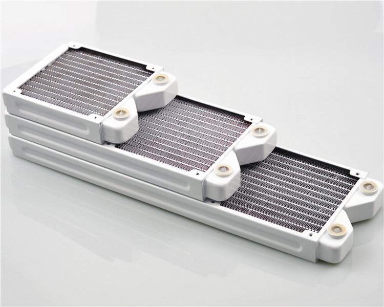 FormulaMod Fm-CoRa-WT, Radiateurs En Cuivre, blanc 27mm Épaisseur 120/240/360mm Radiateurs Pour 120mm Fans, L'eau De Refroidissement Radiateurs