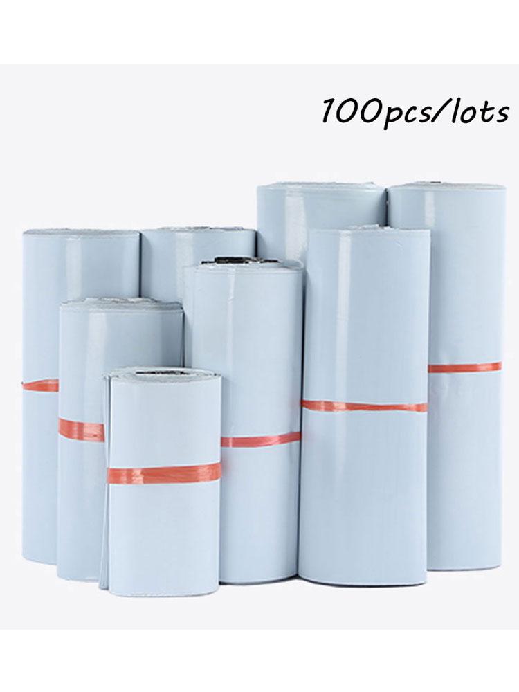 Envelope-Mailer Storage-Bags Poly Postal Plastic White Self-Seal 100pcs/Lot Adhesive