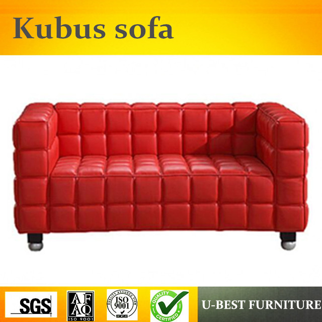 U Best Living Room Modern Leather Josef Hoffman Kubus Sofa With 2 Seater Design