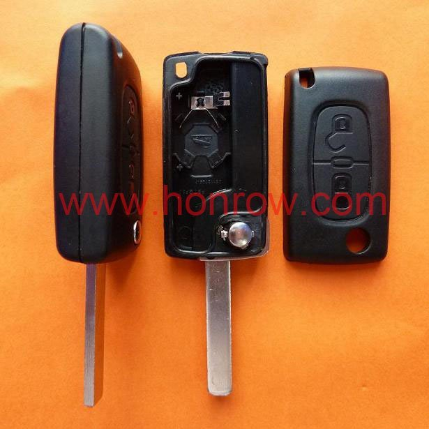 High quality Cit 307 blade 2 buttons flip remote key blank  ( VA2 Blade -  2Button - With battery place ) (No Logo)