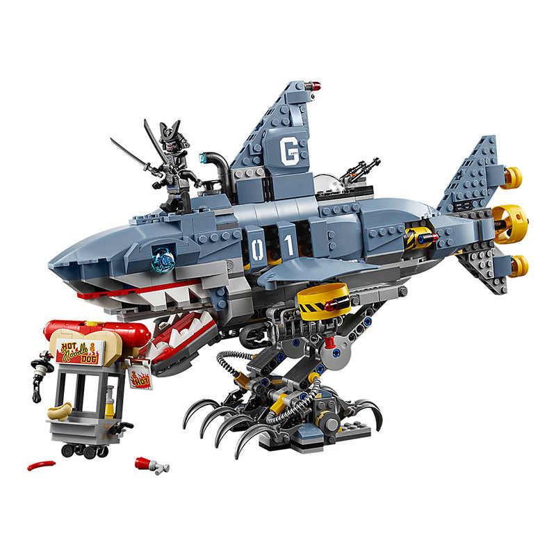 2019 Novo Ninja O 6-Tubarão Filme Garmadon Ninjago Building Blocks Define Bricks Diy 70656 Compatível com Lego Melhor presente