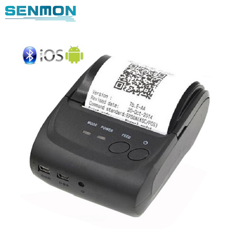 US $33 05 12% OFF|ZJiang ZJ 5802LD Mini Portable Rechargeable Android  Bluetooth 58mm Thermal Receipt Printer for Restaurant Supermarket-in  Printers