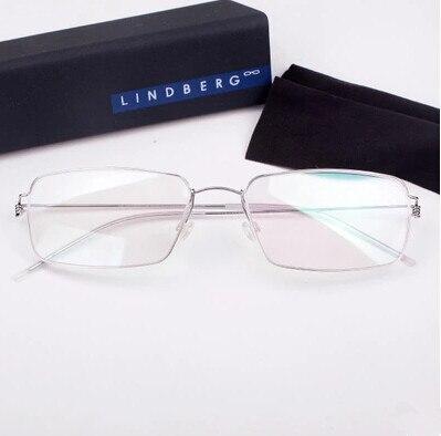 Lindberg occhiali cornice di specchio piano uomo montatura per occhiali telaio in titanio senza - Occhiali per truccarsi allo specchio ...