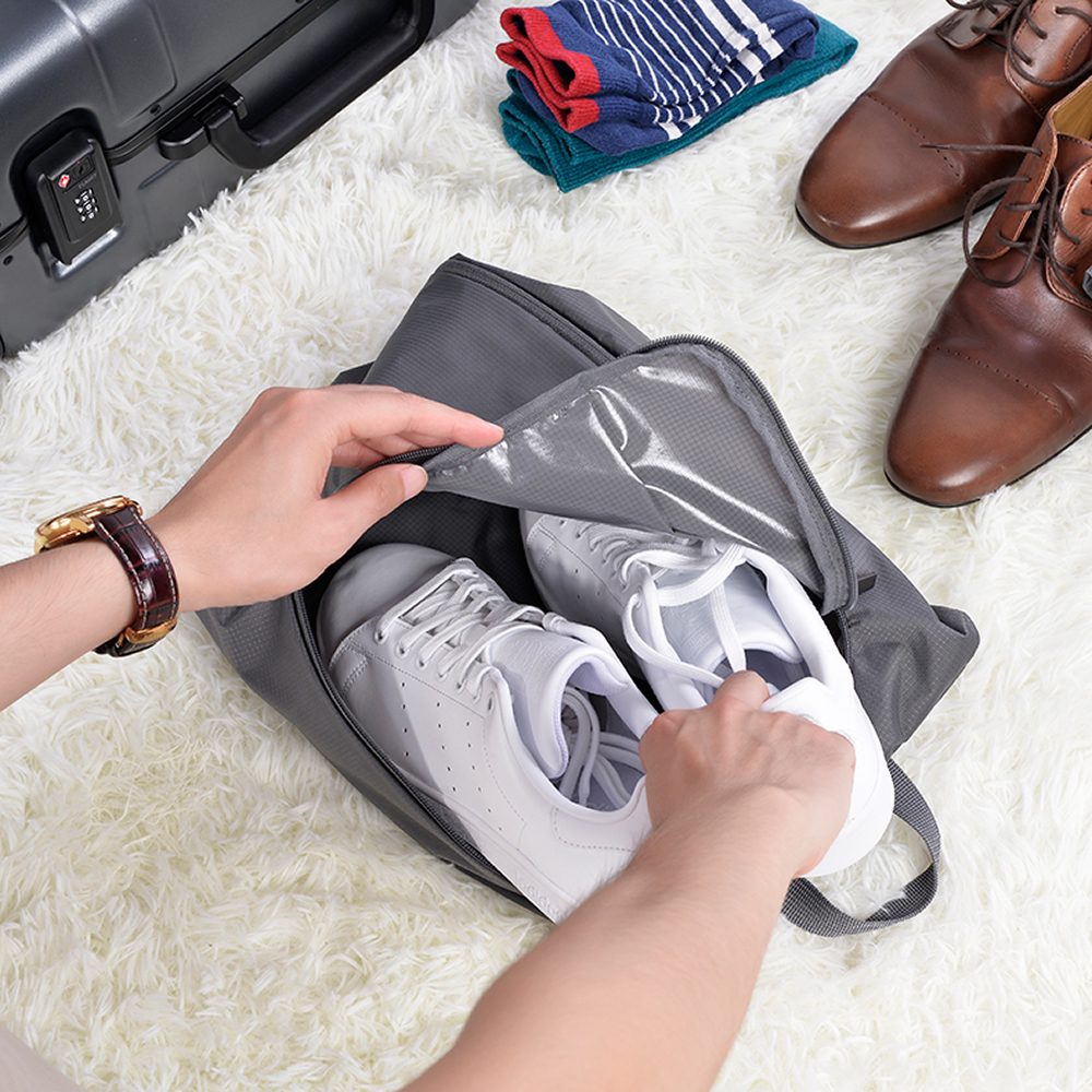 90 Points Portable Storage Bag Shoes Bags Dust Cover High Quality Nylon Waterproof Travel Pouch Shoe Storage Portable Handbag