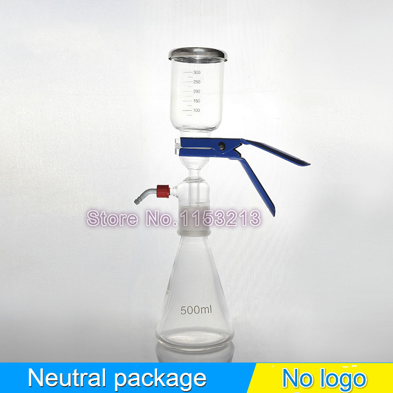 500ml Solution filter bottle Vacuum filtration device Sand core Solvent suction filter unite with filter cup & receive bottle eyki h5018 high quality leak proof bottle w filter strap gray 400ml