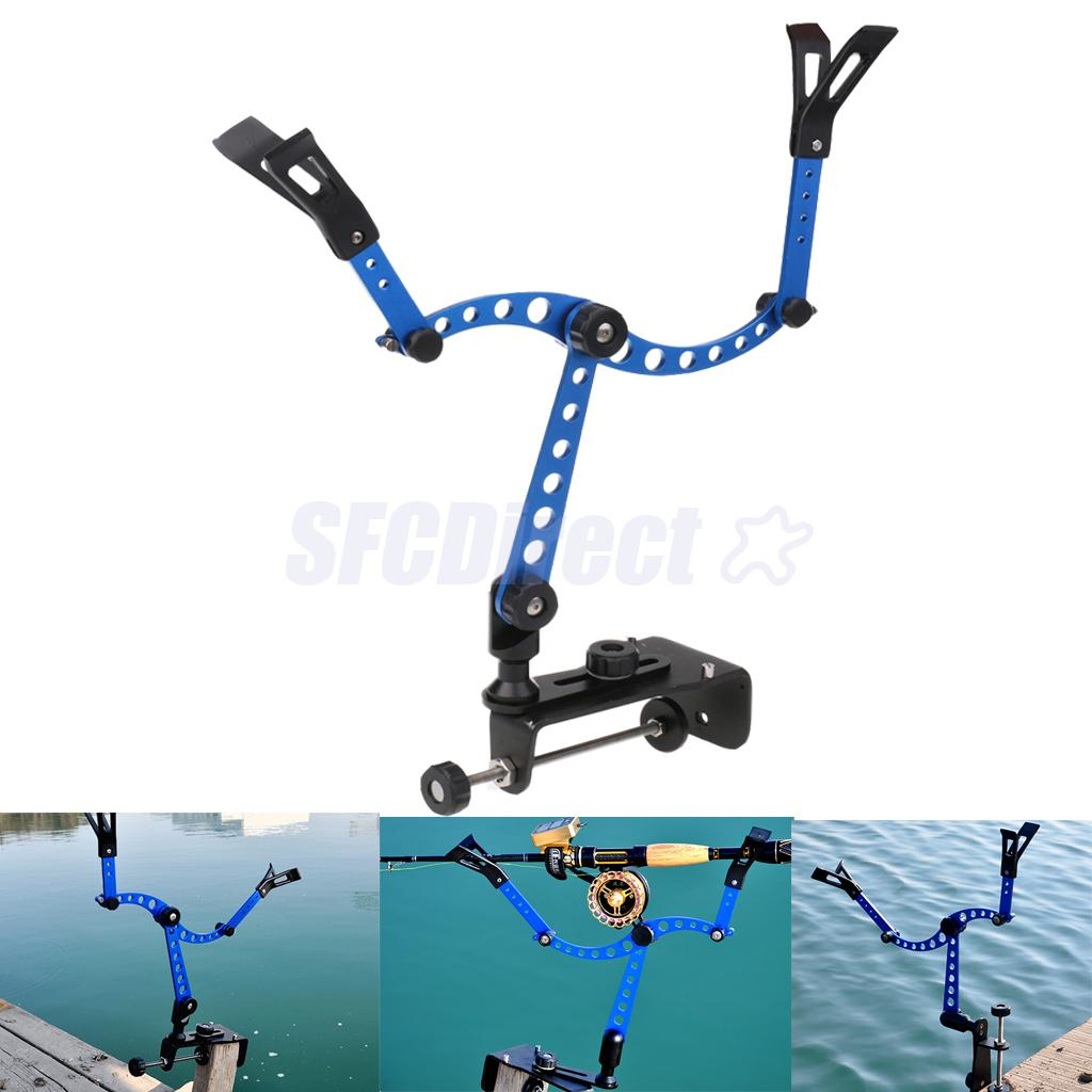 360 Degree Fishing Rod Bracket Rest Stand Boat Pole Mount Clamp Clip Stander Holder Tackle Tool automatic double spring angle fish pole tackle bracket fishing bracket rod holder anti rust steel tools fishing accessories