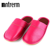 Mntrerm 2018 New Genuine Leather Women Slippers Spring Autumn Home Slippers  High Quality Women Shoes Home 7f0d8ec1d5c2