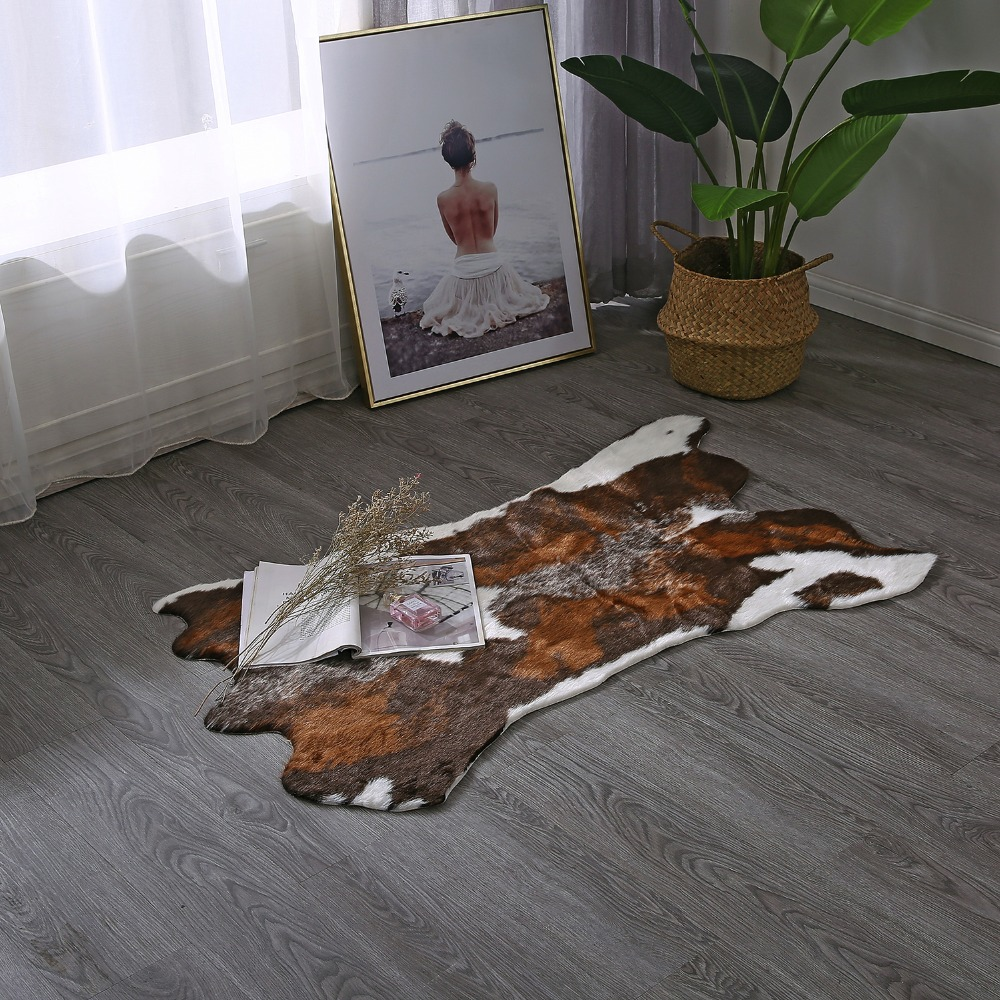 Cow Print Rug 29 43 Inches Feet Faux Cowhide Rug Animal