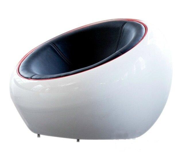 Halfmoon Curved Floor Hemisphere Chair Armchair Semicircle Ball Chair  Beanbag Fiberglass Leisure Rotation