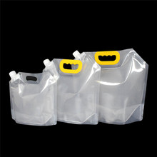 1.5/2.5/5L Stand-up Plastic Drink Packaging Bag Spout Pouch for Beer Beverage Liquid Juice Milk Coffee DIY Packaging Bag(China)