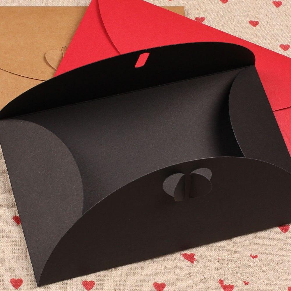 Office & School Supplies Paper Heart Buckle Envelope For Business Card Vip Bank Debit Card