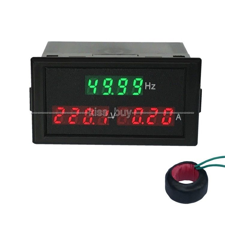 3in1 AC 250 450v 100A font b digital b font LED AC Voltage Current Frequency Combo