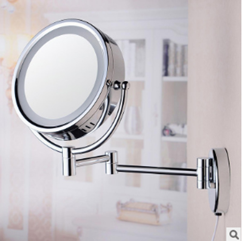 ZYYWaterproof Copper Sensor Light Mirror LED Mirror Lighted Bathroom Mirrors Makeup Mirror Professional Vanity Mirror with Light copper bathroom shelf basket soap dish copper storage holder silver
