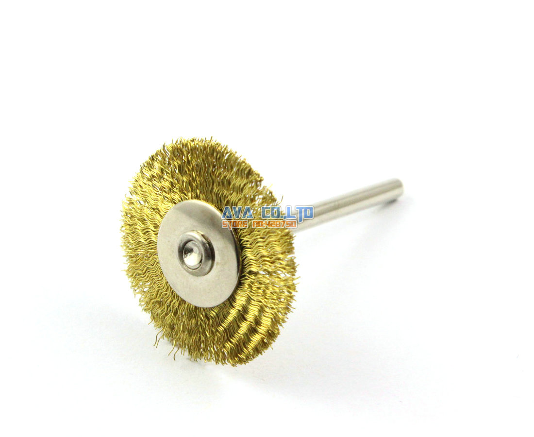 20 Pieces 25mm Brass Wire Brush Wheel for Cleaning Rust Removal