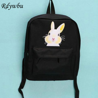 2017Printing Factory Direct Sale Fashion Rabbit Big Bang Tooth Lip Children Schoolbag Leisure Ladies Knapsack Laptop