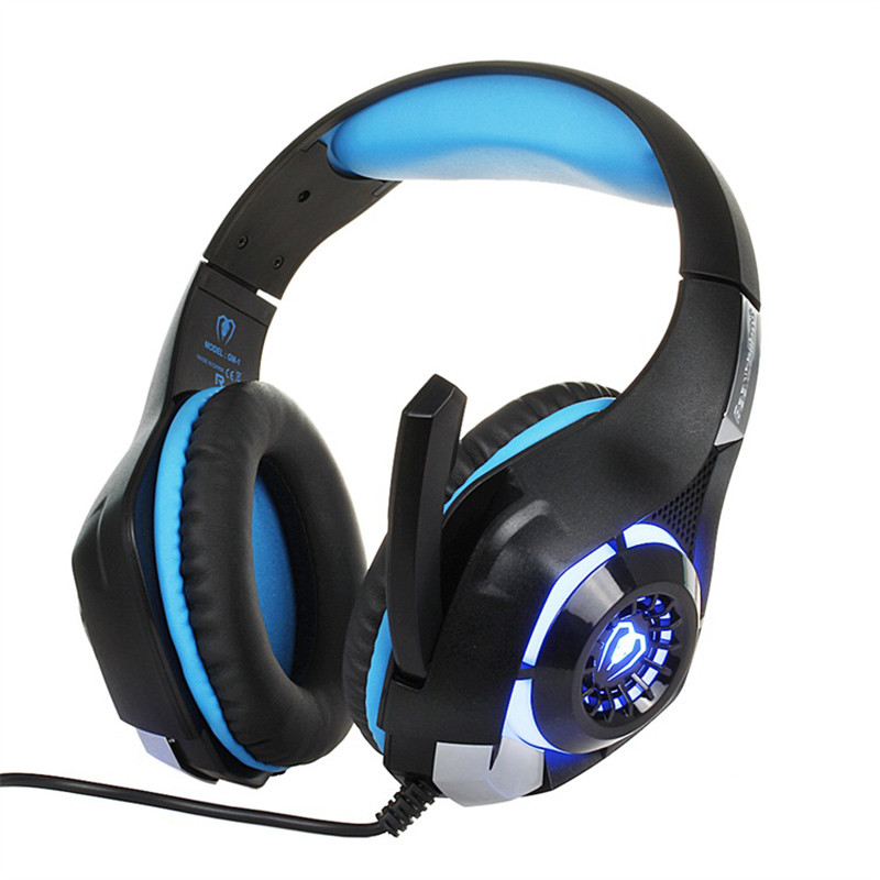 New Gaming Headphones 3.5mm Wired LED light Headset For Computer PS4/PSP/PC Noise Cancel Stereo Bass game Earphone with Mic