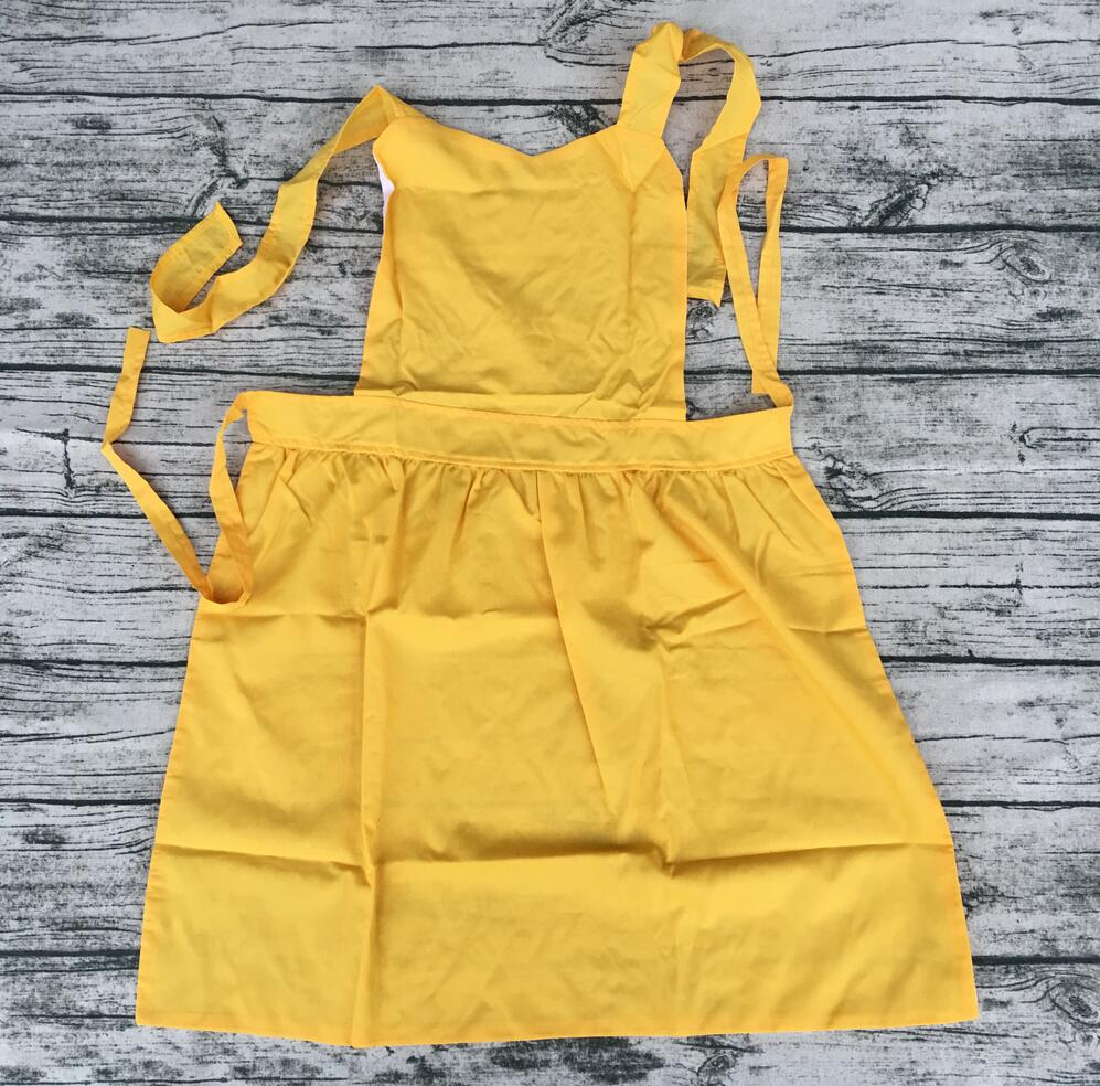 Kids Personal Sonw White Kitchen Princess Apron For Children Cooking