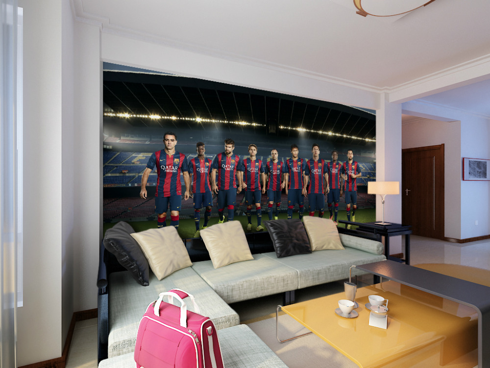 free shipping eco friendy 3d huge famous barcelona football team papel de parede for bedroom sofa tv wallpaper murals wallpapers barcelona bedroom