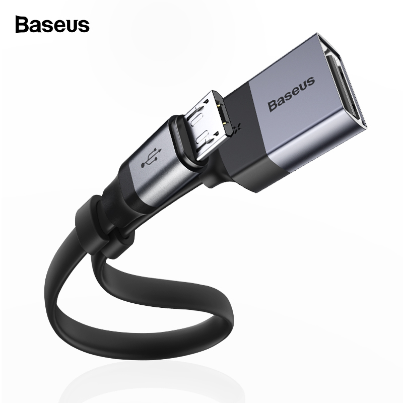 Baseus OTG Micro USB Cable Adapter For Xiaomi Redmi Note Samsung Android Charging Converter USB 2.0 Microusb OTG Cable Connector