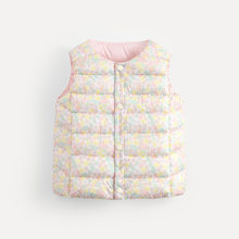 Newborn Baby Girl Winter Clothes Kids Vest Top Waistcoats Catoon Printed Winter Autumn Outerwear Children Warm Vest Coat(China)