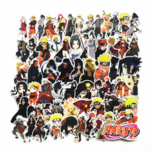 2019 japan anime 63Pcs/lot Naruto sasuke Cartoon For Snowboard Laptop Luggage Fridge Car- Styling Vinyl Decal  Stickers