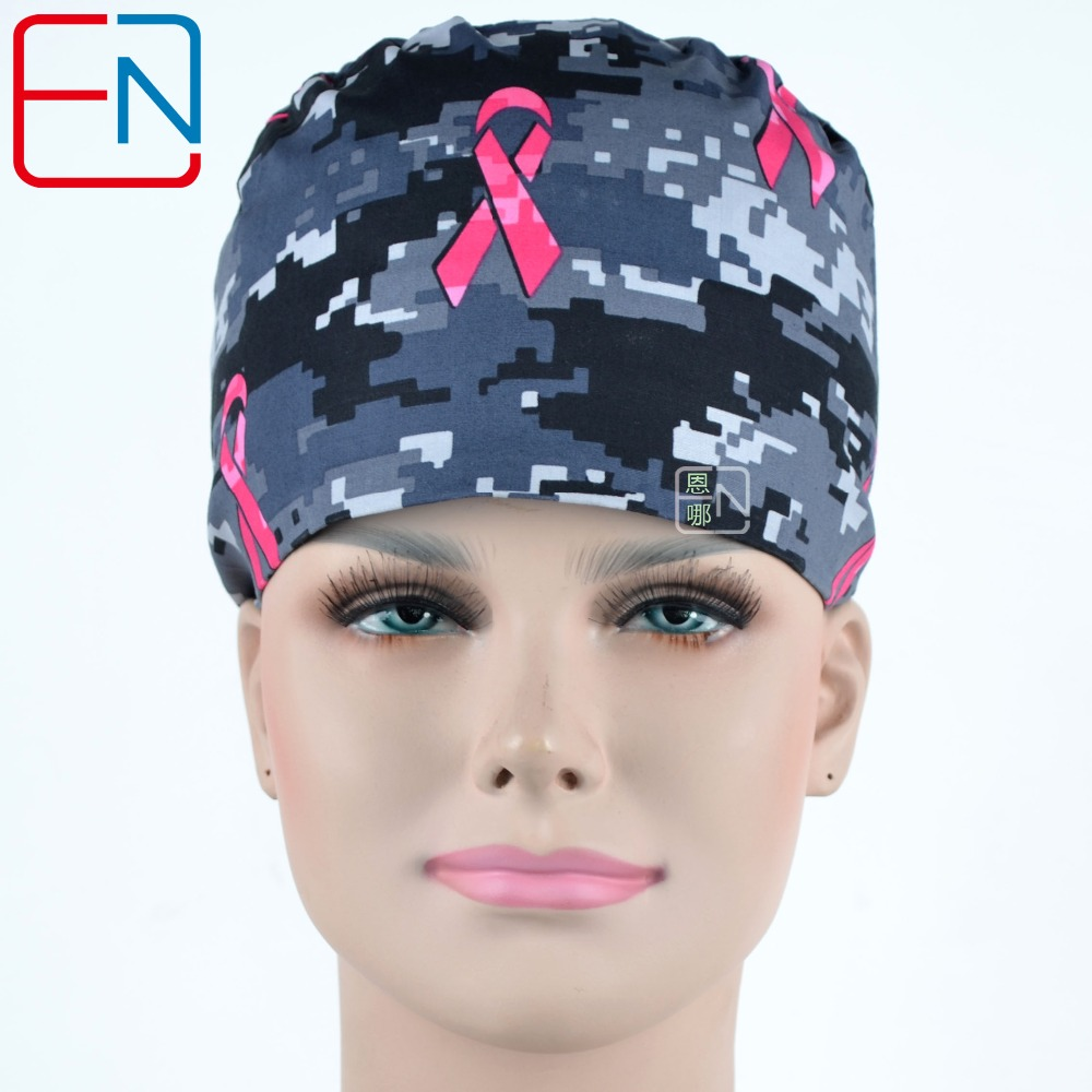 Hennar Women Hospital Surgical Caps Clinic Doctors Medical Cap Masks Adjustable Nurse Camouflages Cap Medical Accessories