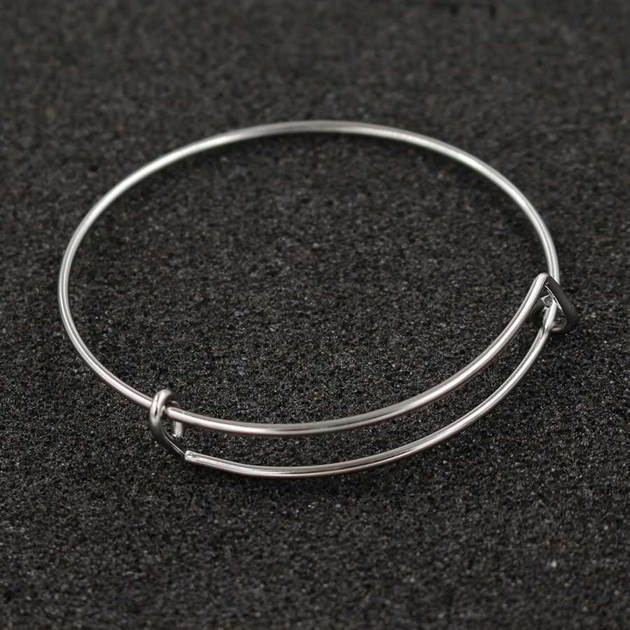 Fnixar 1.6mm Wire Stainless Steel Expandable Bracelet Base Adjustable Blank Bangle DIY Charm Bracelets& Bangles  50 piece/lot-in Bangles from Jewelry & Accessories    1