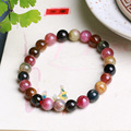 JoursNeige Natural Tourmaline Stone Bracelet 7mm Beads Bracelets Multi Color Jade Bracelet for Men Women Jewelry Accessories
