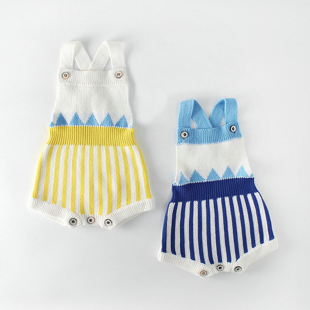 f495b02f0 Baby Knitted Clothes Newborn Baby Girls Romper Sleeveless Woolen ...