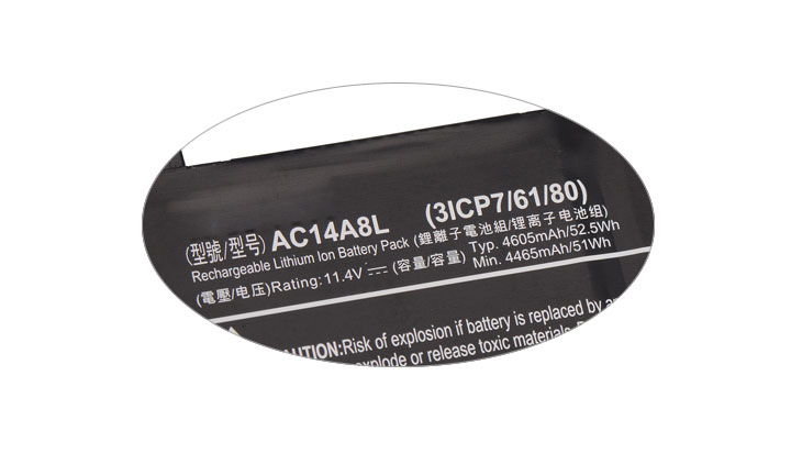 KingSener nuevo AC14A8L batería del ordenador portátil para Acer Aspire VN7-571 VN7-571G VN7-591 VN7-591G VN7-791G KT.0030G 001 11,4 V 4605 mAh - 4