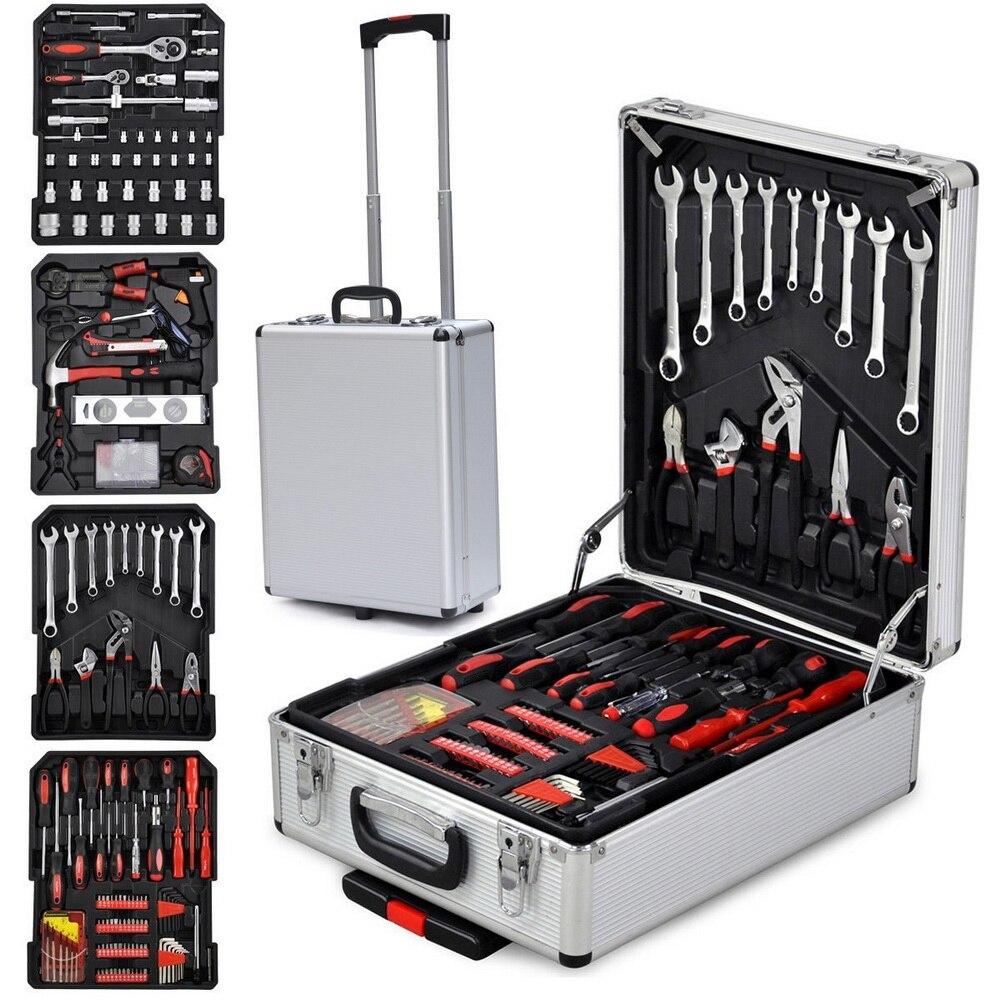 ONS 799 Pcs Hand Tool Set met Rollende Gereedschapskist Metric Dopsleutel Hand Tool Kit Storage Case Dopsleutel schroevendraaier Mes - 2