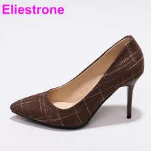 Brand New Hot Sales Elegant Brown Blue Women Nude Pumps High Heels Lady Casual Shoes JF28 Plus Big Small Size 10 30 45 48