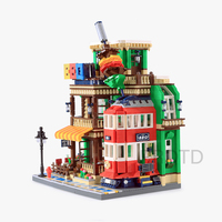 WANGE 6313 ideas series the BBQ Restaurant Model Building Blocks Compatible with legoed Classic Architecture Toys for children