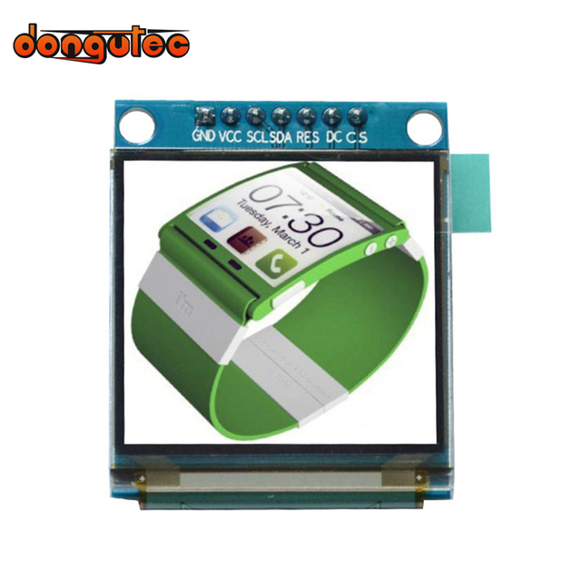 dongutec 1.5 inch 7PIN Full Color OLED module Display Screen SSD1351 Drive IC 128(RGB)*128 SPI Interface for 51 STM32 Arduino