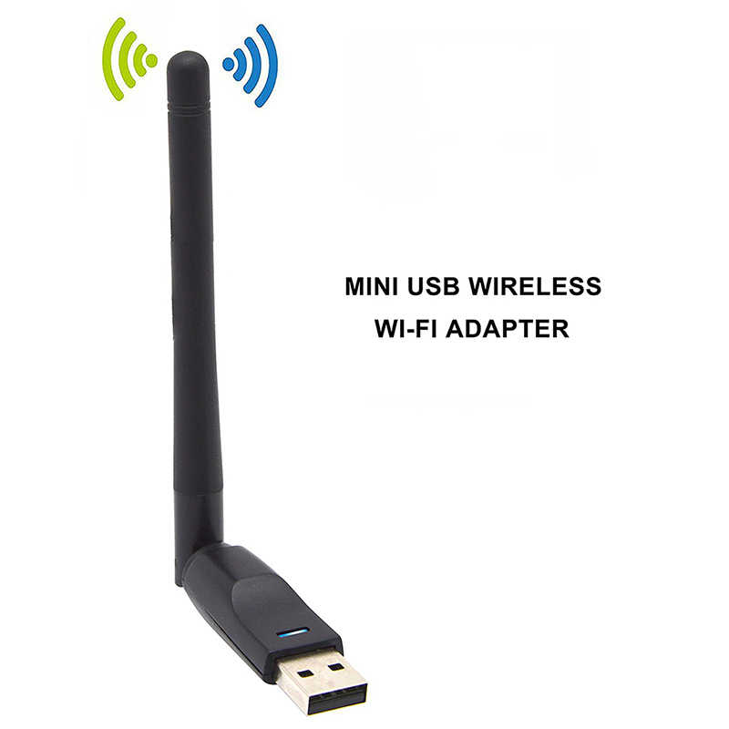 Kebidu usb2.0 150 mbps wifi placa de rede sem fio 802.11 n/b/g lan rede conector para ralink rt5370 antena para windows