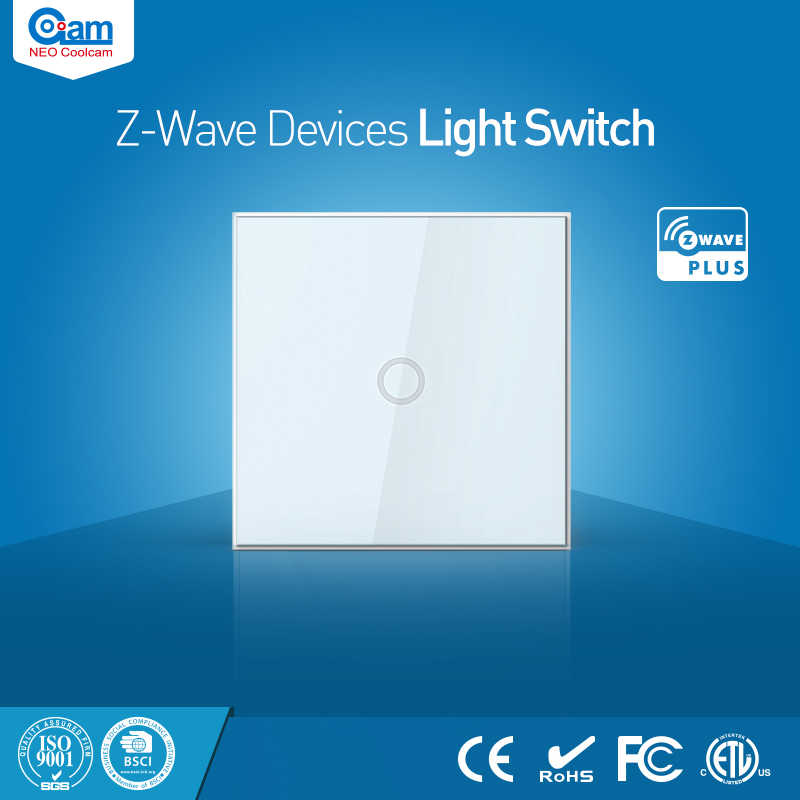 NEO Coolcam Smart Home Z-Wave Plus 1CH EU Light Switch Compatible with Z-wave 300 series and 500 series Home Automation
