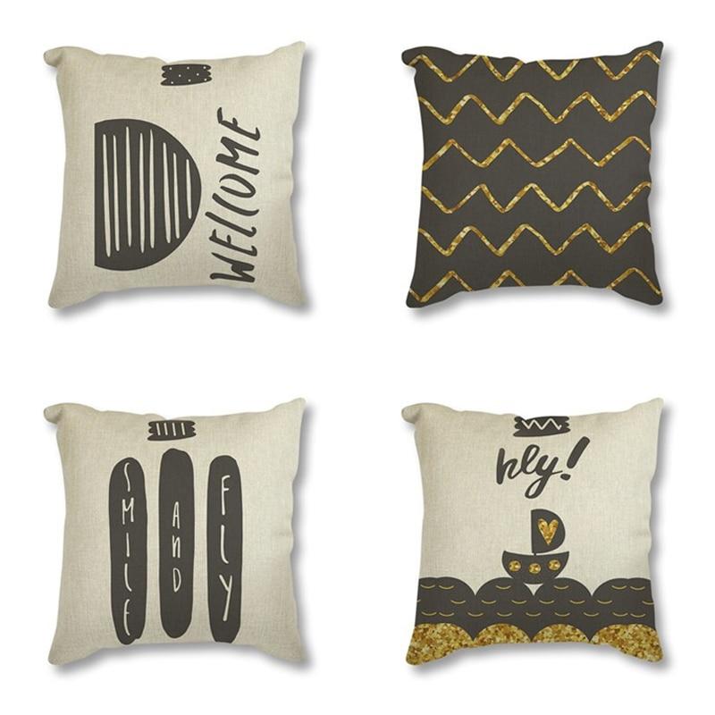 Family Affection Seat Cushion Letter Throw Pillow 45x45 Family Love Decorative Cushion For Sofa Car Geometric Cushion Home Decor