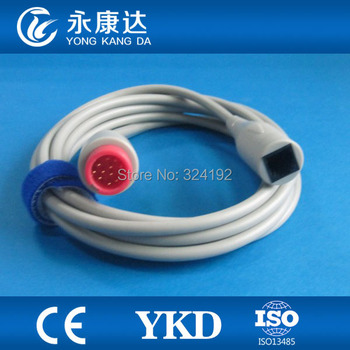 2pcs/pack Free Shipping for Mindary 12pin Abbott transducer adpter IBP cable,3m