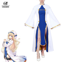 ROLECOS Anime Goblin Slayer Onna Shinkan Cosplay Costume Priestess Perucas Women Cosplay Dress Girl Uniform Party Costume