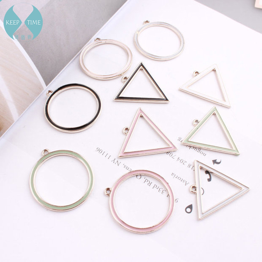 Diy Accessories Alloy By Triangle Circular Border Earrings Materials Bracelet Pendant Necklace Parts In Jewelry Findings Components From