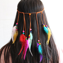 European and American popular hair band color feather head scenic spots shooting tourism headwear ornaments