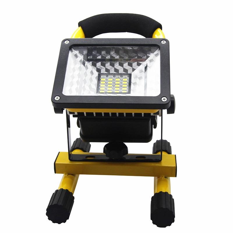 Portable IP65 24LED 30W Flood Light Waterproof Spotlights Rechargeable Floodlight Outdoor LED Work Emergency Light