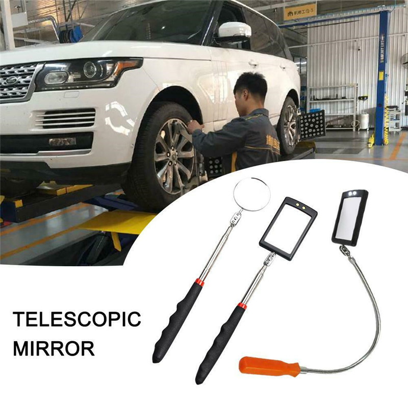 Inspection Mirror With Light Mirror Telescope Extension Car Angle Telescopic Car Cushion Grip Handle Lens LED Endoscope For Cars